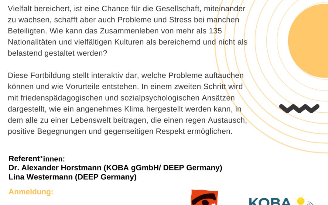 """Online Workshop: """"Zukunftswerkstatt Multikulti: Wie wollen wir miteinander leben""""- 17.04.2021"""